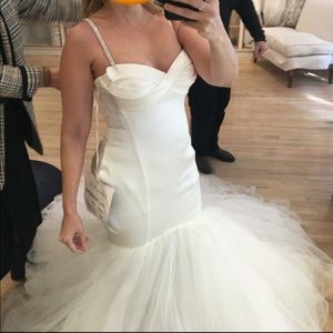 Pnina Tornai Strapless mermaid wedding gown